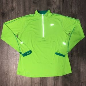 Green Nike Element Running Long Sleeve Top Neon